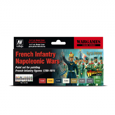 Vallejo Model Colour French Infantry Napoleonic Wars Paint Set